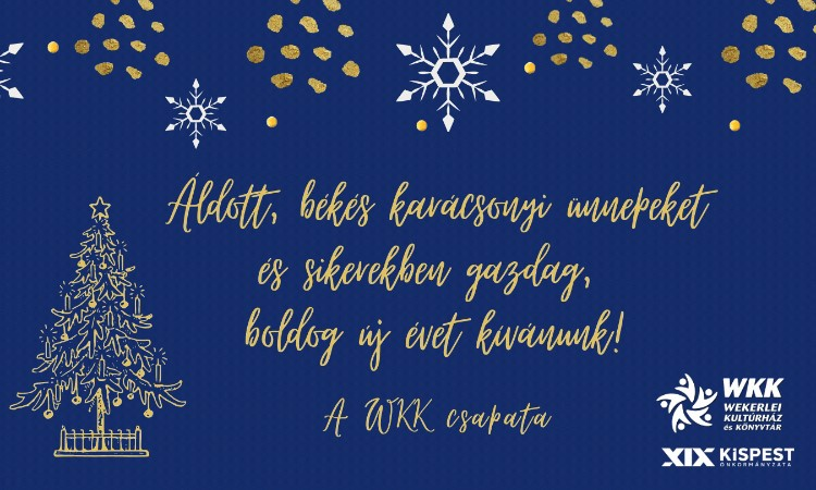 Boldog karácsonyi ünnepket és új esztendőt kívánunk!