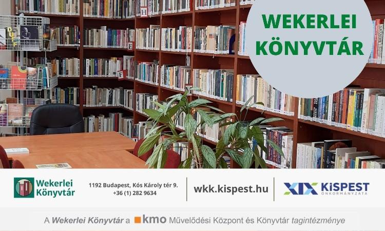 2021. évi október havi programok a Wekerlei Könyvtárban