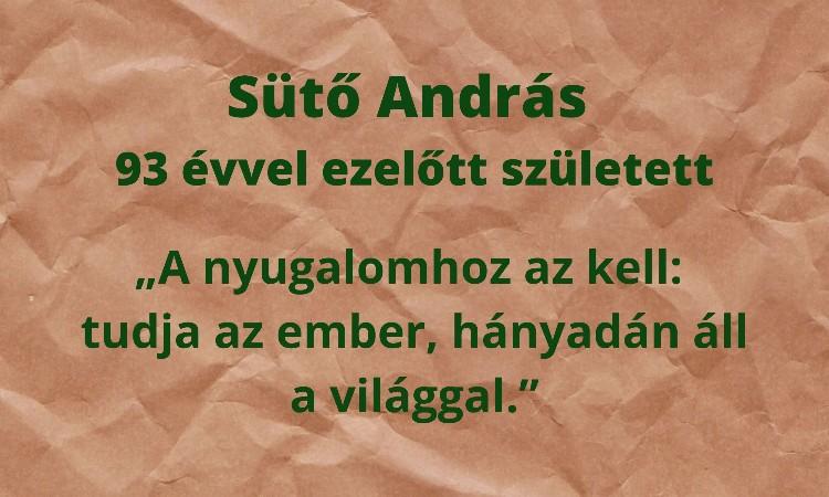 Olvass online! - Sütő András 93 évvel ezelőtt született
