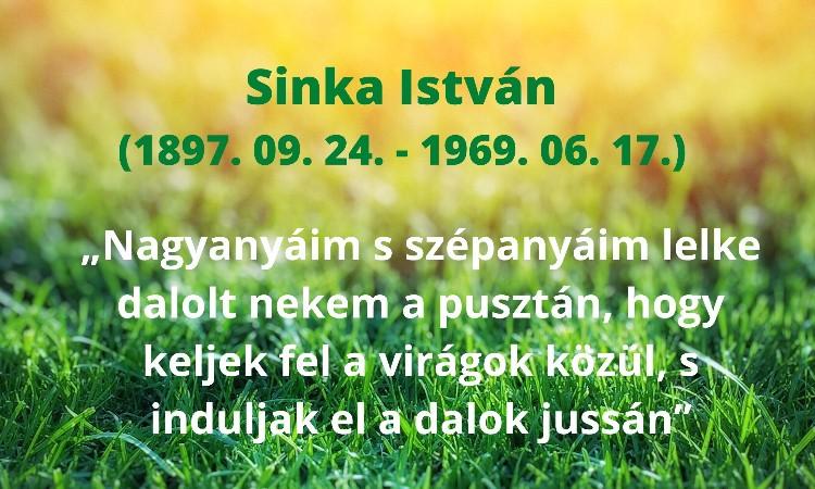 Olvass online! - Sinka István 51 évvel ezelőtt hunyt el