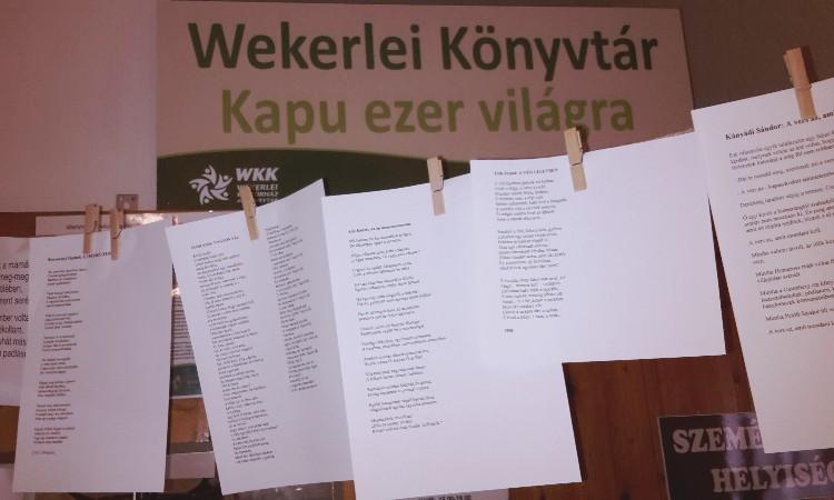 VERSFAL a Magyar költészet napjára